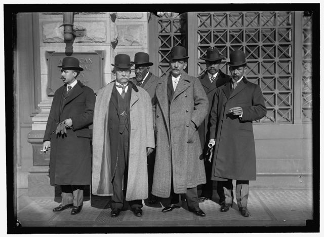 PAN AMERICAN SCIENTIFIC CONGRESS. DELEGATION FROM HAITI. LEON DEJEAN; EDMOND HEREAUX; F.D. LEGITIME; HORACE ITHEART; EBERLE FIRMIN, OFFICIAL DELEGATE. CHARLES MATHOU, CHAIRMAN OF DELEGATION