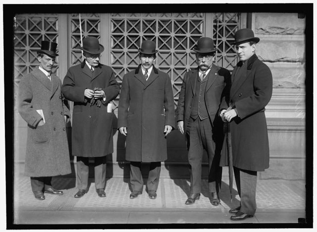 PAN AMERICAN SCIENTIFIC CONGRESS. NICARAGUAN DELEGATION. DAMASO RIVAS; ANTONIO A. ARIAGA; GEN. EMILIANO CHAMORRO; MINISTER FROM NICARAGUA; SENOR GOMEZ; ALEJANDRO CESAR