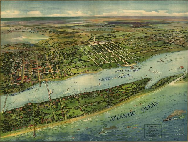 [Panoramic view of West Palm Beach, North Palm Beach and Lake Worth].