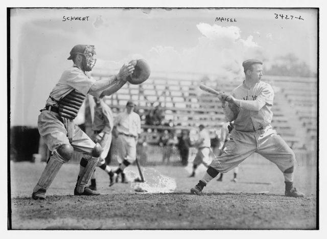 [Pi Schwert, catcher and Fritz Maisel, hitter, New York AL (baseball)]