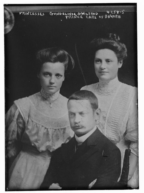 Princesses Gundelinde & Wiltrud & Prince Carl of Bavaria