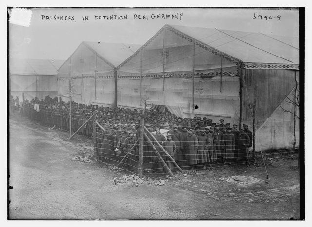 Prisoners in detention pen, Germany