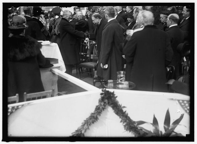 RED CROSS, AMERICAN. CORNERSTONE LAYING, PRESIDENT WILSON AND EX-PRESIDENT TAFT OFFICIATING