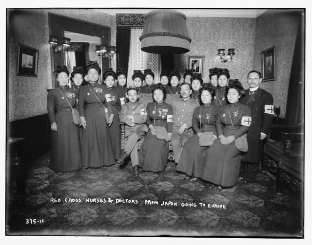 Red Cross nurses & doctors from Japan going to Europe
