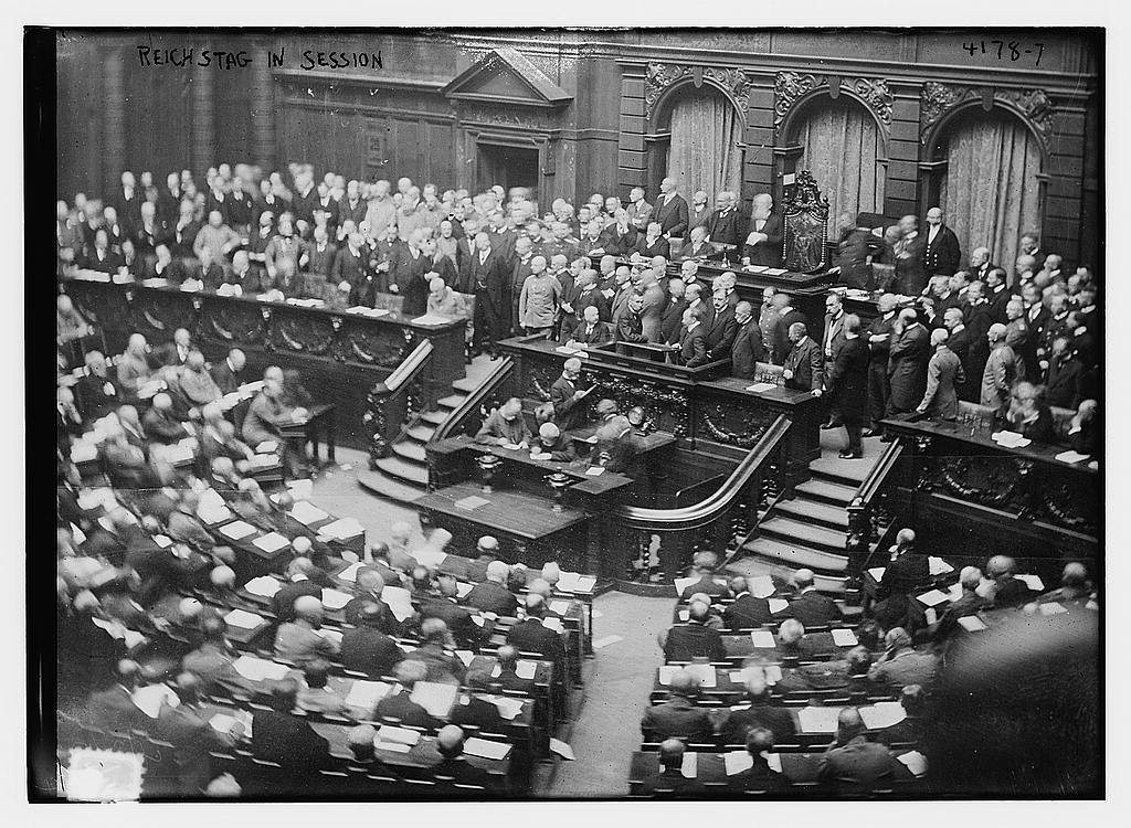 Reichstag in session