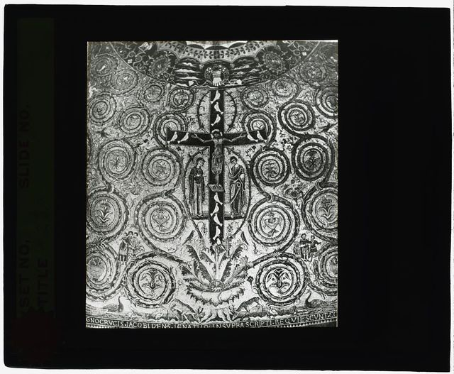 [Reproduction of illustration showing a mosaic Crucifixion as Tree of Life]
