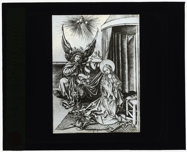 [Reproduction of print: Annunciation]
