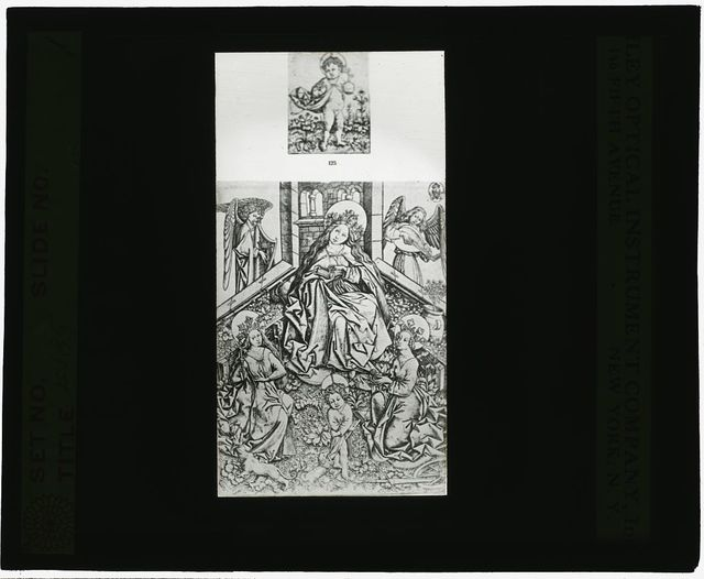 [Reproduction of print showing Virgin in enclosed garden]
