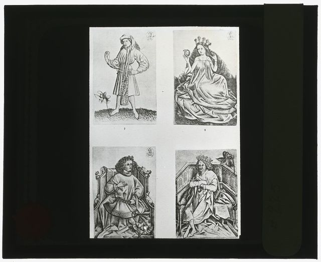[Reproduction of prints showing four figures]
