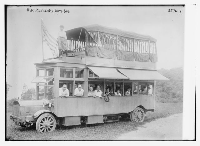 R.R. Conklin's auto bus