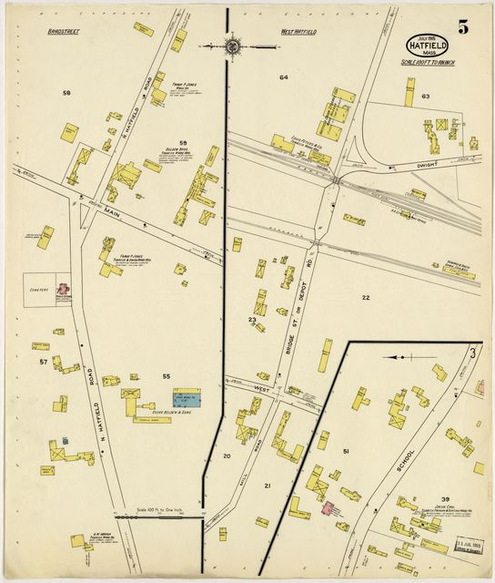 Sanborn Fire Insurance Map from Hatfield, Hampshire County, Massachusetts.