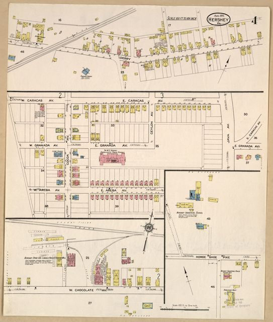 Sanborn Fire Insurance Map from Hershey, Dauphin County, Pennsylvania.