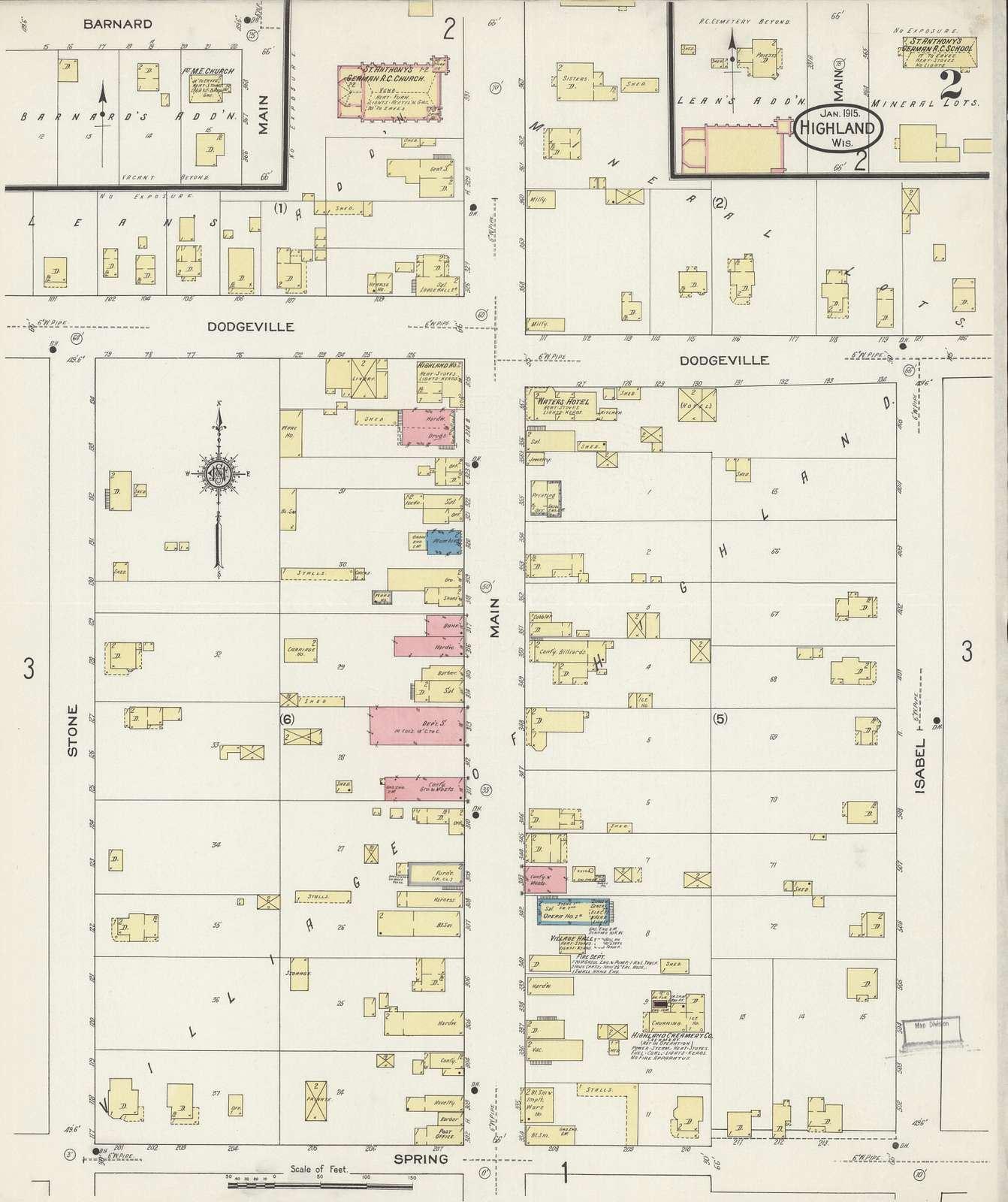 Sanborn Fire Insurance Map from Highland, Iowa County, Wisconsin