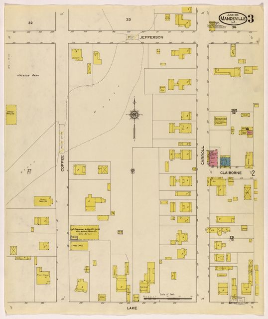 Sanborn Fire Insurance Map from Mandeville, Saint Tammany Parish, Louisiana.