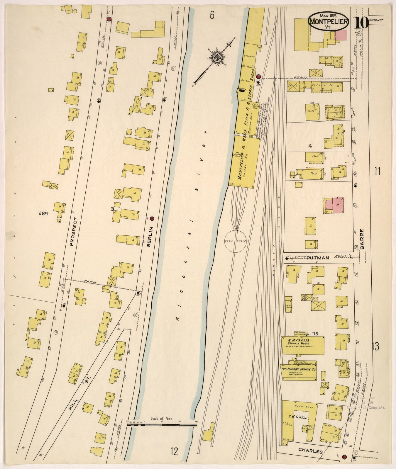 Sanborn Fire Insurance Map from Montpelier, Washington County ...