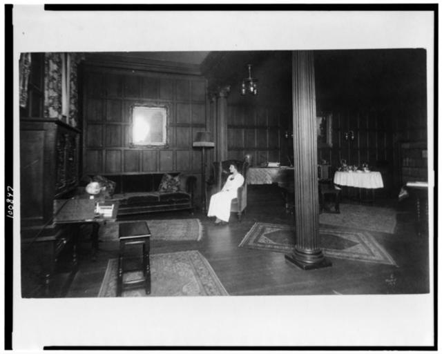 Senior parlor, Vassar College / photo by Wolven, Poughkeepsie, N.Y.