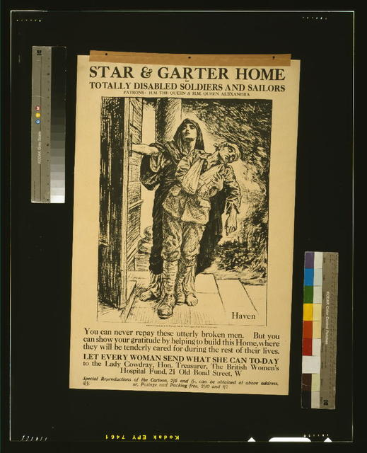 Star & Garter Home for totally disabled soldiers and sailors / B.P. ; WHS [monogram].