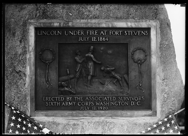Stevens memorial bronze tablet