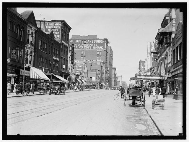 STREET SCENE. F STREET, N.W.