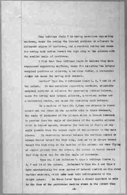 Subject File:  Legal Cases--Wright Co. v. Curtiss Aeroplane Co.--Affidavits: Brookins, Walter R., 1915