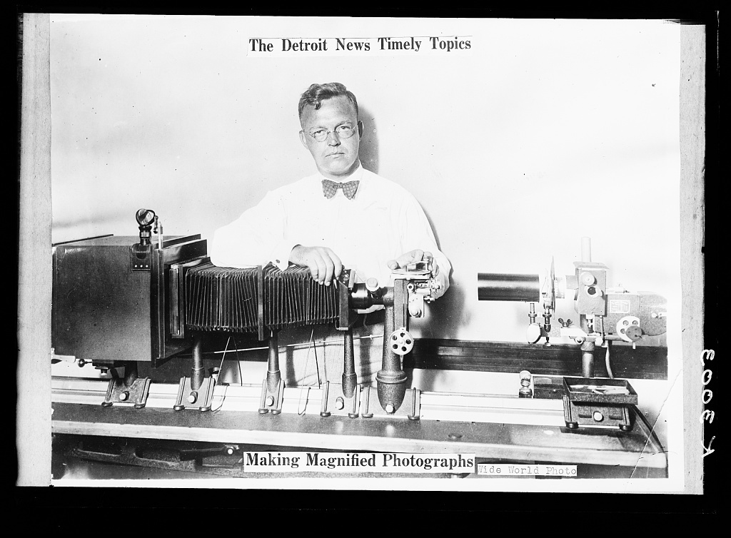 The Detroit news timely topics.  Making magnified photographs