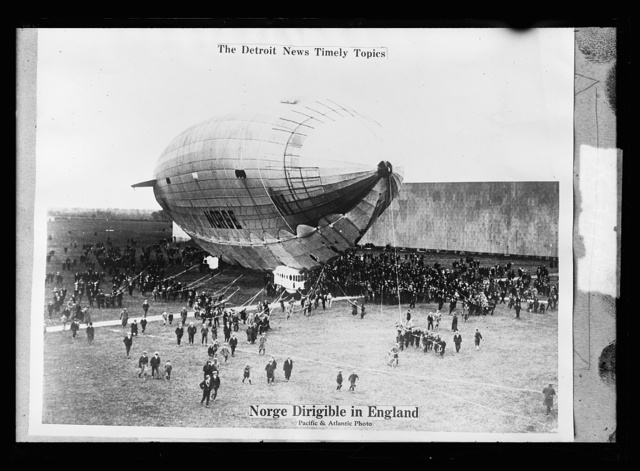 The Detroit news timely topics.  Norge dirigible in England