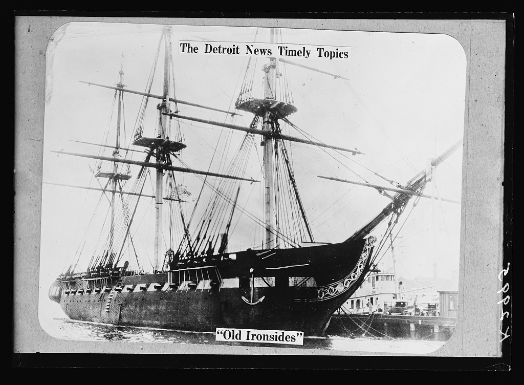 The Detroit news timely topics.  Old Ironsides