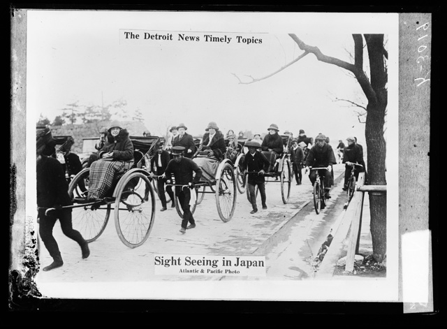 The Detroit news timely topics.  Sight seeing in Japan