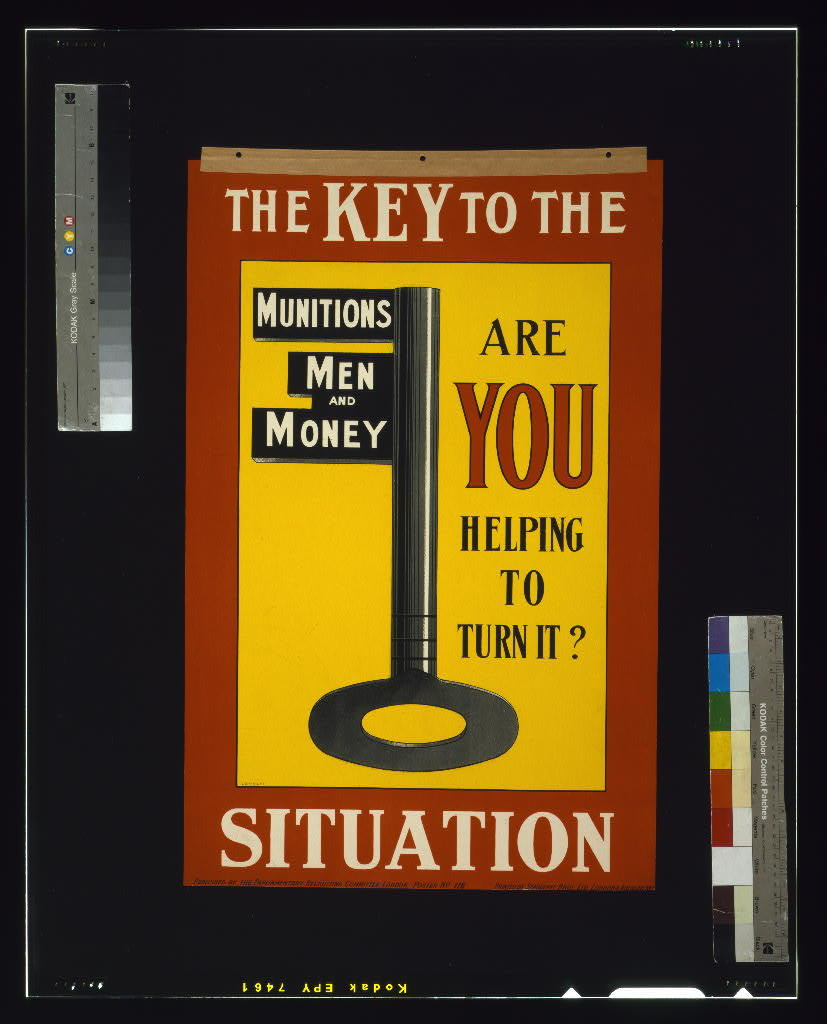 The key to the situation. Are you helping to turn it? / printed by Seargeant Bros. Ltd., London & Abergavenny.