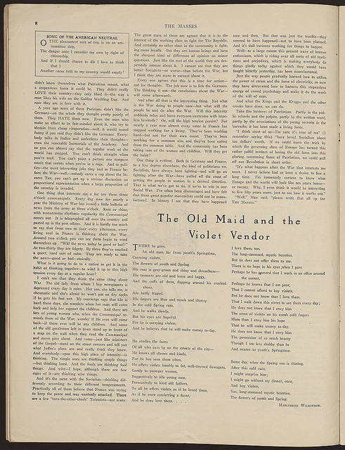 The Masses, entire issue for August 1915, vol. 6, no. 11 (issue no. 51)