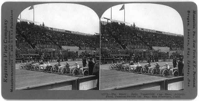 The Start! Baby Vanderbilt Cup Race, Athletic Field, Panama-Pacific International Exposition, San Francisco, Calif.