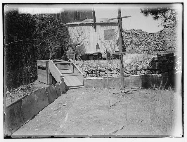 The terrible plague of locusts in Palestine, March-June 1915. Portable above-ground trap