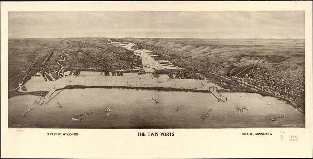 The twin ports, Superior, Wisconsin, Duluth, Minnesota.