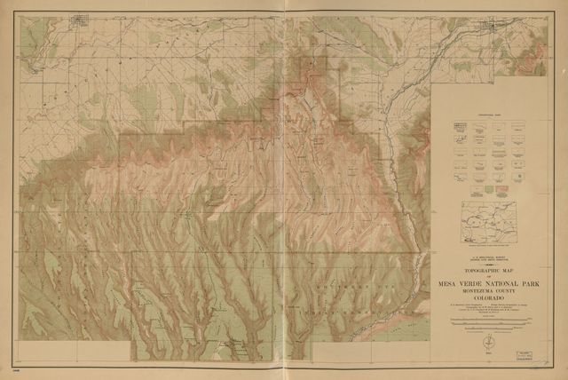 Topographic map of Mesa Verde National Park : Montezuma County, Colorado /
