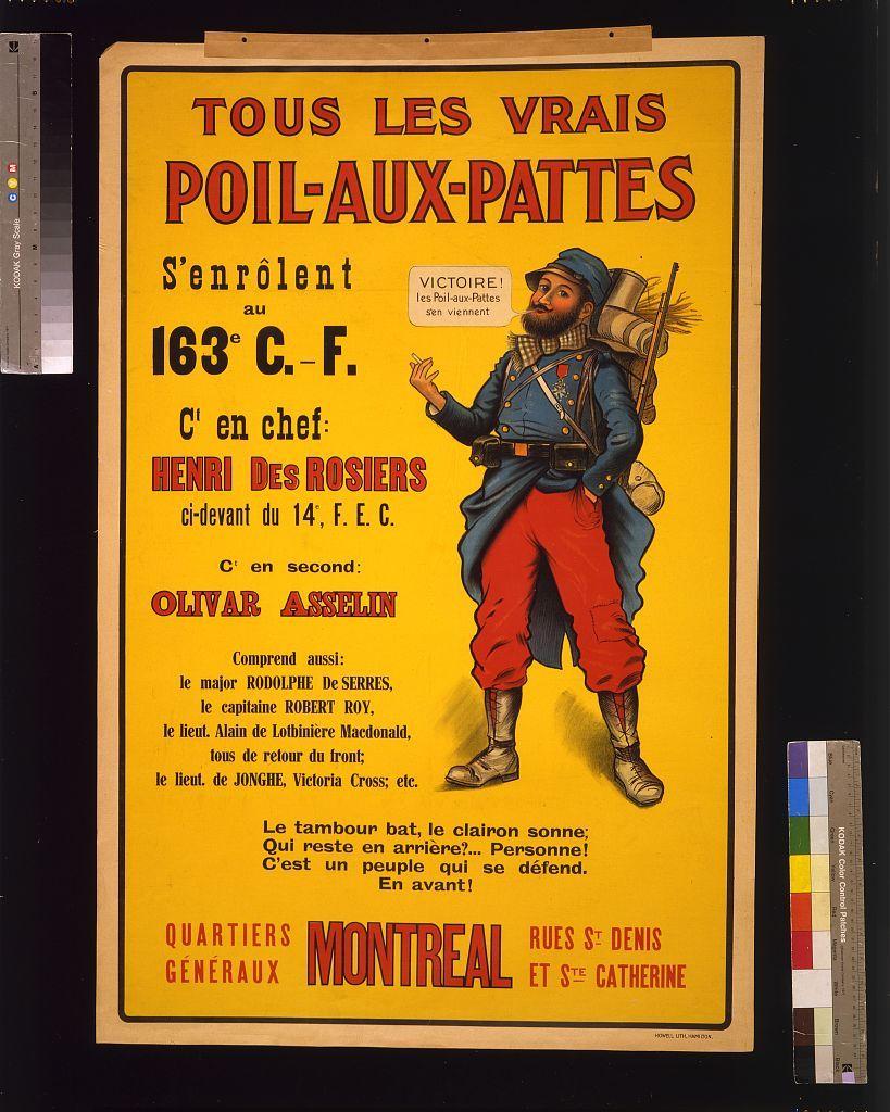 Tous les vrais Poil-aux-pattes s'enrôlent au 163e C.-F.