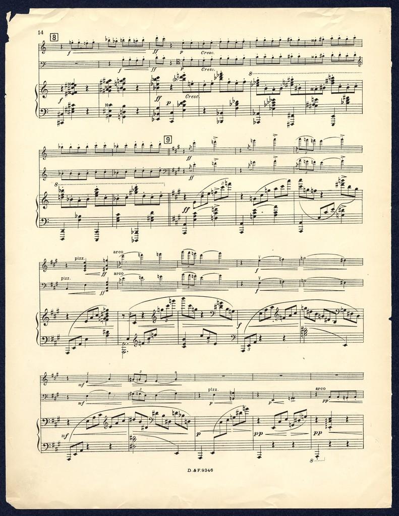 Trio pour piano, violon et violoncello [monogram]