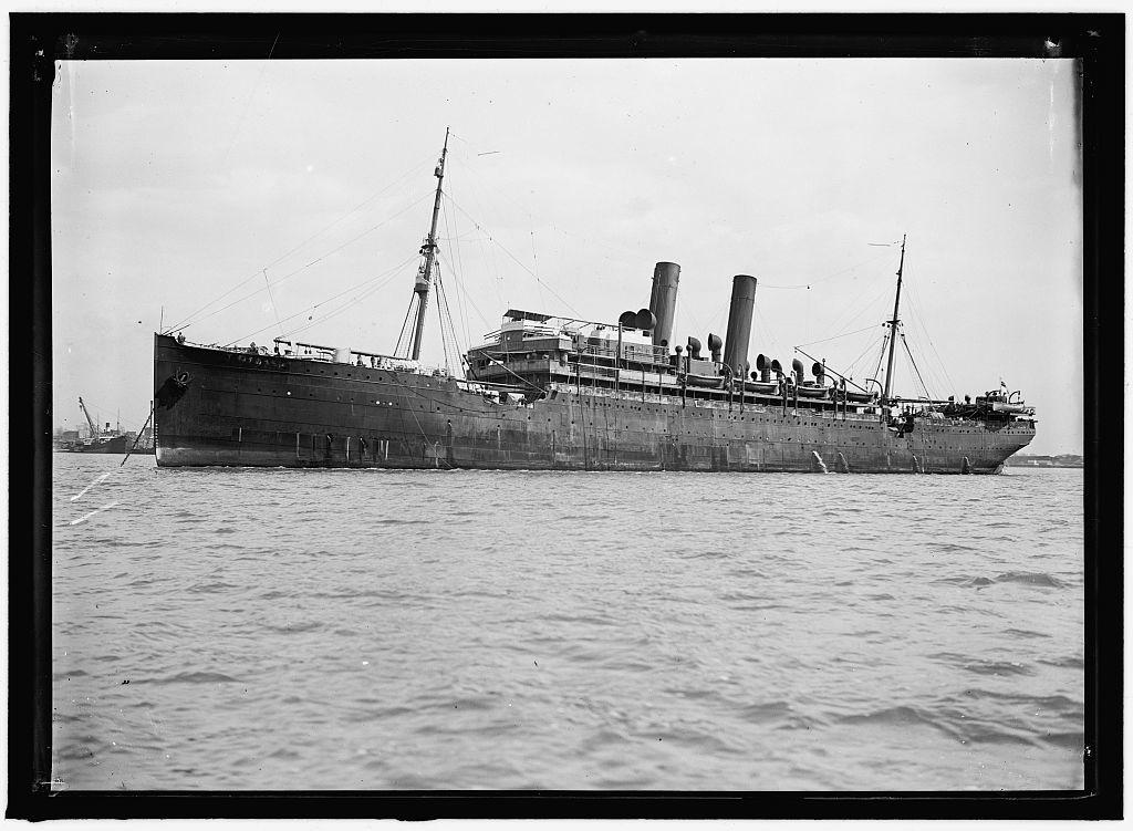 UNITED STATES NAVY. EITEL FRIEDRICH, GERMAN SHIP TAKEN OVER BY U.S.; THE SHIP