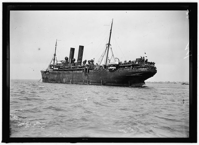 UNITED STATES NAVY. EITEL FRIEDRICH, GERMAN SHIP TAKEN OVER BY U.S.; THE SHIP