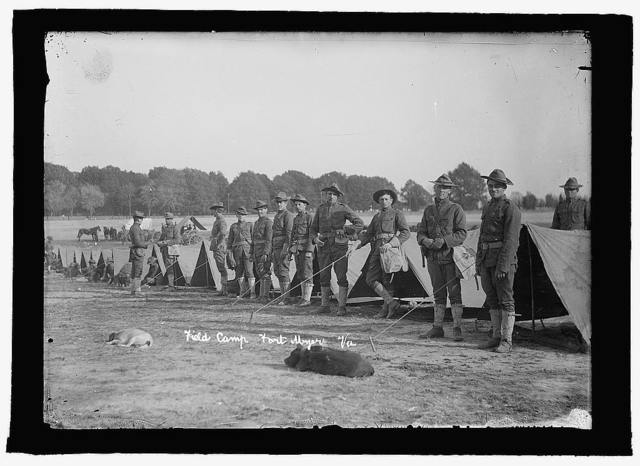 U.S. Army field camp, Ft. Myer, Va. (prior to 1915)