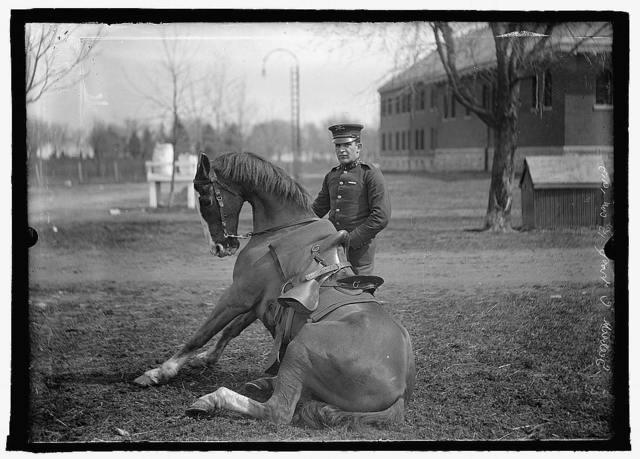 U.S. Army horse stunts, Ft. Myer, Va. (prior to 1915)