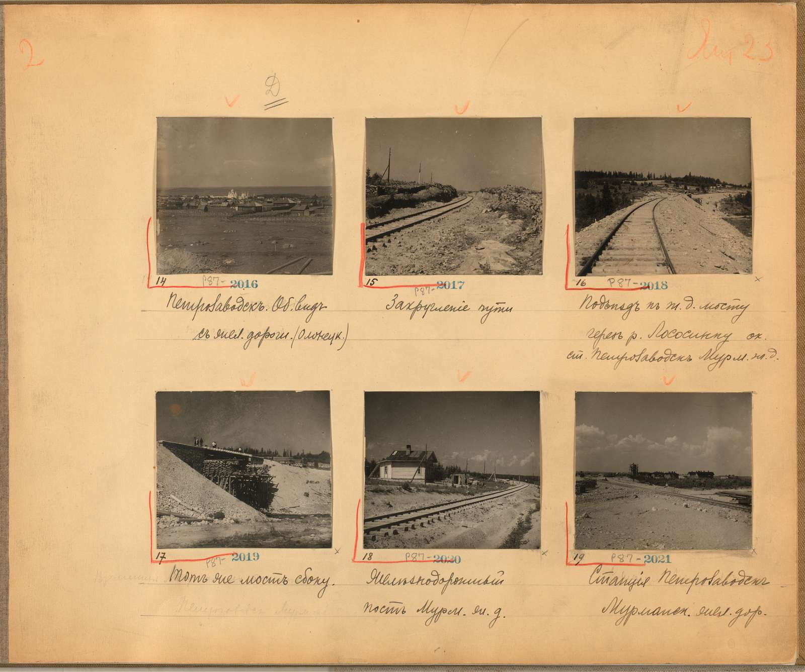 Views along the Murmansk railway, Russian Empire