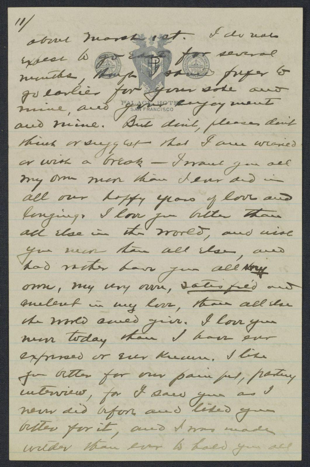 Warren G. Harding-Carrie Fulton Phillips Correspondence: Correspondence and drafts of correspondence; 1915