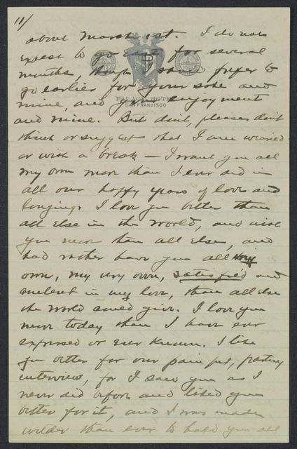 Warren G. Harding-Carrie Fulton Phillips Correspondence: Correspondence and drafts of correspondence; 1915