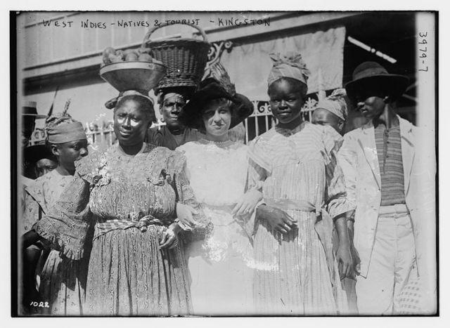 West Indies, natives & tourist -- Kingston