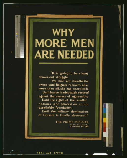 Why more men are needed / printed by Jowett & Sowry, Leeds.