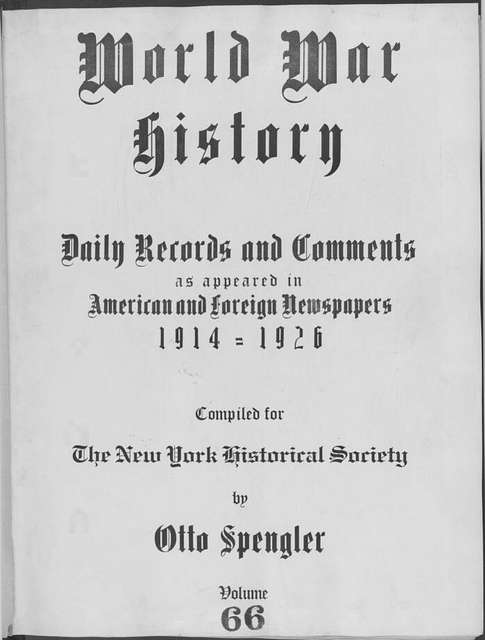 World War history : daily records and comments as appeared in American and foreign newspapers, 1914-1926 (New York), March 18, 1915, (1915 March 18-23)
