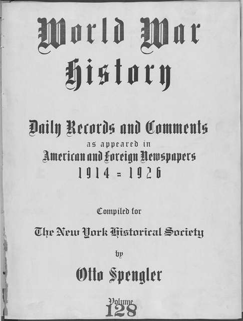 World War history : daily records and comments as appeared in American and foreign newspapers, 1914-1926 (New York), December 2, 1915, (1915 December 2-7)
