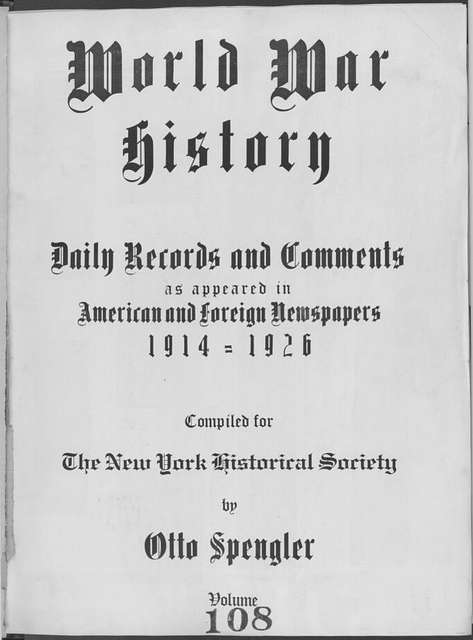 World War history : daily records and comments as appeared in American and foreign newspapers, 1914-1926 (New York), September 19, 1915, (1915 September 19-24)