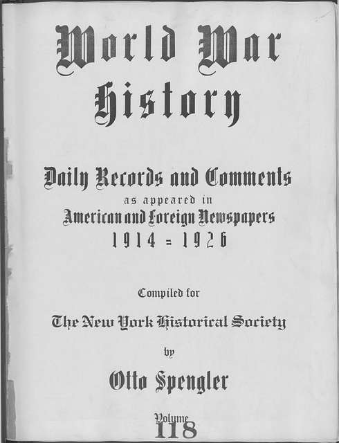 World War history : daily records and comments as appeared in American and foreign newspapers, 1914-1926 (New York), October 28, 1915, (1915 October 28-31)
