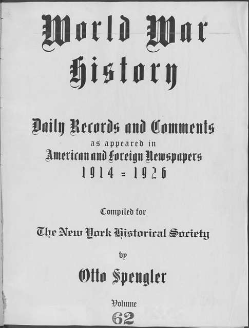 World War history : daily records and comments as appeared in American and foreign newspapers, 1914-1926 (New York), February 28, 1915, (1915 February 28- March 4)